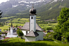Village church in the tirol Royalty Free Stock Photos