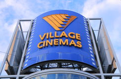 Village Cinemas Australia. Village Cinemas, Australian- based film exhibition brand that mainly shows blockbuster films Stock Photography