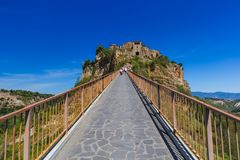 Village Civita di Bagnoregio in Italien Stockbild