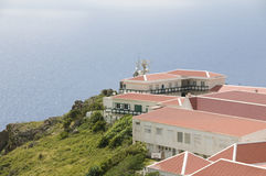 Village  cliff  Caribbean Sea Saba Stock Photo