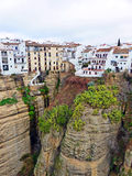 Village on the Cliff in Ronda. City Landscape of Ronda, Spain Royalty Free Stock Photos