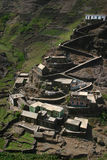 Village climbing on mountains Stock Photos