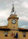 The village clock Royalty Free Stock Photo