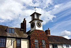 Old clock tower. An old clock tower in the  lovely historic village of Steyning in Sussex Royalty Free Stock Photo