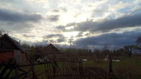 Village clouds sky day stock video footage