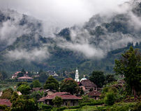 Village in the Clouds Stock Photography