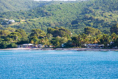 Village on Coast of St Croix Royalty Free Stock Photo