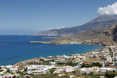 Village on the coastline of Karpathos, Greece Stock Photography