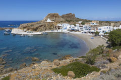 Village on the coastline of Karpathos, Greece Royalty Free Stock Image