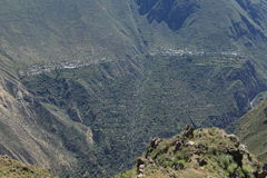 Village in the Colca Canyon of Peru Royalty Free Stock Photo