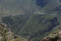 Village in the Colca Canyon of Peru Royalty Free Stock Images