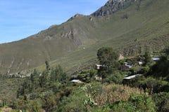 Village in the Colca Canyon of Peru Stock Photos