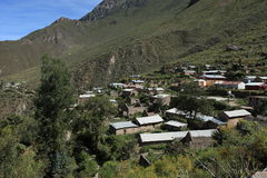 Village in the Colca Canyon of Peru Royalty Free Stock Photos