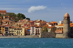 Village of Collioure Mediterranean French coast Royalty Free Stock Images