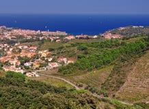 Village of Collioure, Vermilion coast. Languedoc-Roussillon, France Stock Images