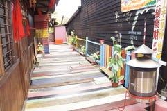 Village coloré Photo stock