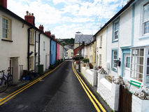 Village coloré d'Aberdovey au Pays de Galles Images stock