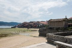 Village of Combarro in Ponteveda, Spain royalty free stock photography