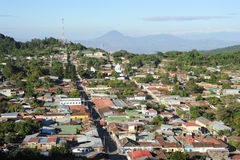The village of Conception de Ataco on El Salvador Stock Photography