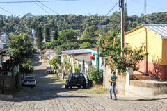 The village of Conception de Ataco on El Salvador Royalty Free Stock Photos