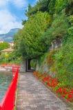 Village confortable de Varenna dans le lac Como, Italie Image libre de droits
