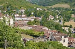 Village of Cordes en Ciel in France Stock Images