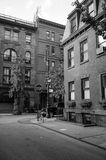 The Village. Corner of Commerce and Barrow Street in West Village, New York Stock Image