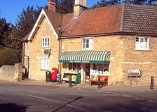 Village corner shop in the United Kingdom. Royalty Free Stock Image