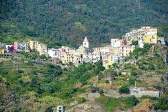 The village of Corniglia in Cinque Terre Stock Photo