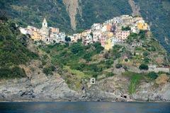The village of Corniglia in Cinque Terre Stock Images