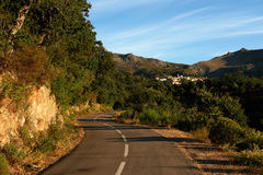 Village in corsica island Stock Photo
