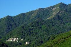 Village in corsica mountains Stock Photo