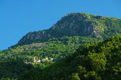 Village in Corsica mountains Stock Images