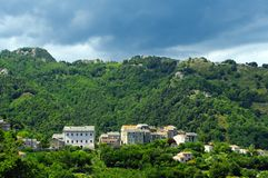 Village in corsica mountains Stock Photos