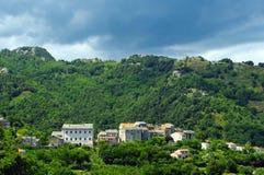 Village in corsica mountains Stock Photos