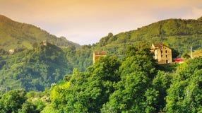 Village in corsica mountains Royalty Free Stock Photos