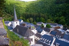 Esch sur sure,luxembourg Stock Photography