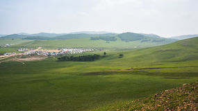 Village in countryside Stock Photos