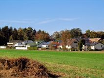 Village countryside landscape royalty free stock photos