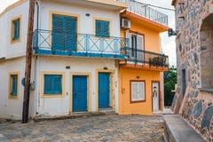 Village crétois traditionnel des mochos, Crète photographie stock libre de droits