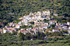 Village Cretan perched Royalty Free Stock Photos