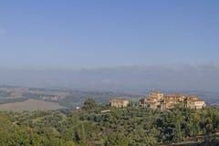 Village in the Crete Senesi Royalty Free Stock Photo