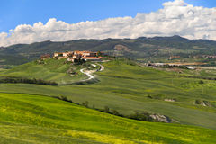 Village in Crete Senesi, Tuscany, Italy Royalty Free Stock Image