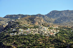 Village of Crete. View of the village in the mountains, Greece, Crete Stock Images