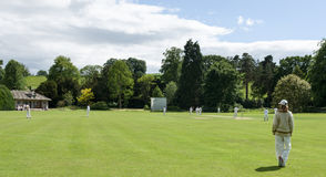 Village Criicket - Cricket Game - North Yorkshire Stock Photos