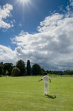 Village Criicket - Cricket Game - North Yorkshire. Village cricket is a term, sometimes pejorative, given to the playing of cricket in rural villages in England royalty free stock photo