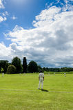 Village Criicket - jeu de cricket - North Yorkshire Photos libres de droits