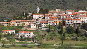 Village of Cucugnan Stock Photo