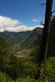Village of Curral das Freiras. Curral das Freiras - Madeira Island - Touristic village in Madeira Royalty Free Stock Images