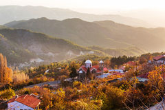 Village in Cyprus. Traditional village in mountains of Cyprus Stock Photography